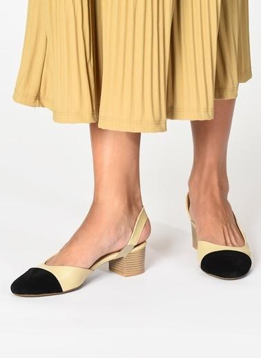 D by Divarese Topuklu Ayakkabı Ten
